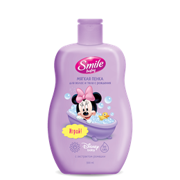 "Smile baby ""Soft Foam For Hair and Body From Birth"" 300ml"