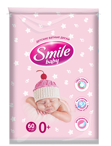 Smile Baby Cotton Pads for Children 60pcs.